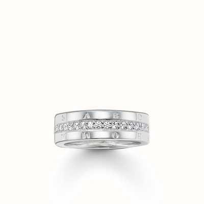 Thomas Sabo Ring White 925 Sterling Silver/ Zirconia TR1701-051-14-56