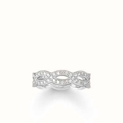 Thomas Sabo Ring White 925 Sterling Silver/ Zirconia Size 54 (UK N) TR1973-051-14-54
