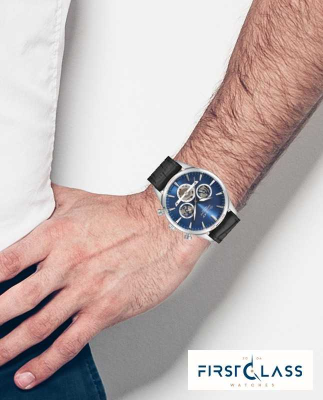 GANT Mens Ridgefield Black Leather Strap Blue Dial GT005001 - First Class  Watches™ AUS db42dbabb83