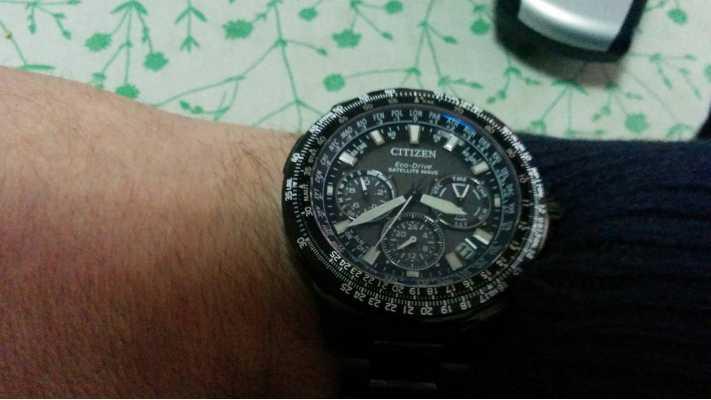 621516d8711 Customer picture of Citizen Promaster Navihawk GPS Black Super Titanium  CC9025-85E